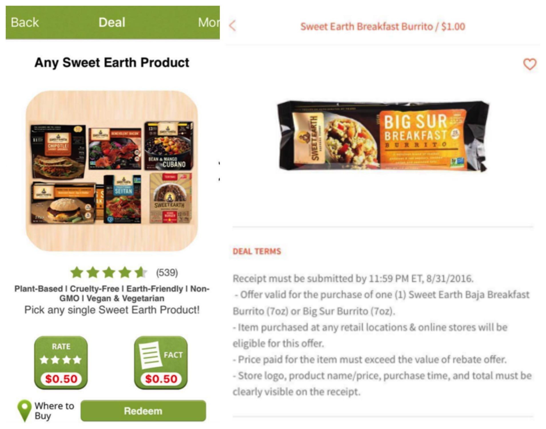 sweet earth rebates Collage