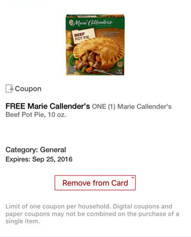 marie callenders coupon