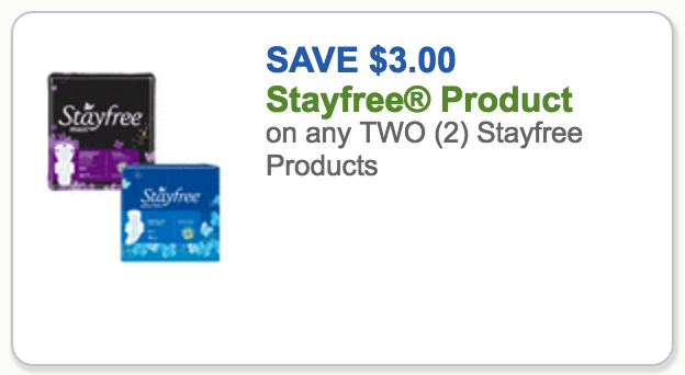 stayfree coupon