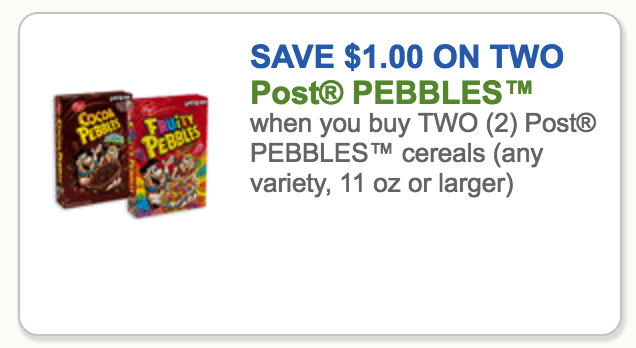 post cereal coupons