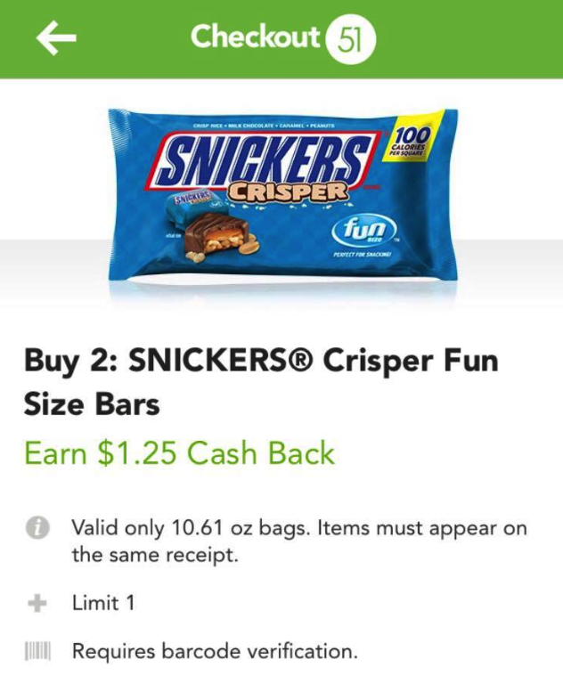 snickers coupons