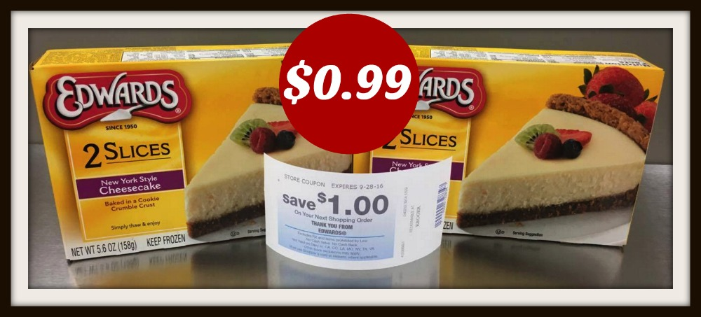 photo regarding Edwards Pies Printable Coupons called Edwards Pie or Cake Slices Catalina Simply $0.99 each individual with