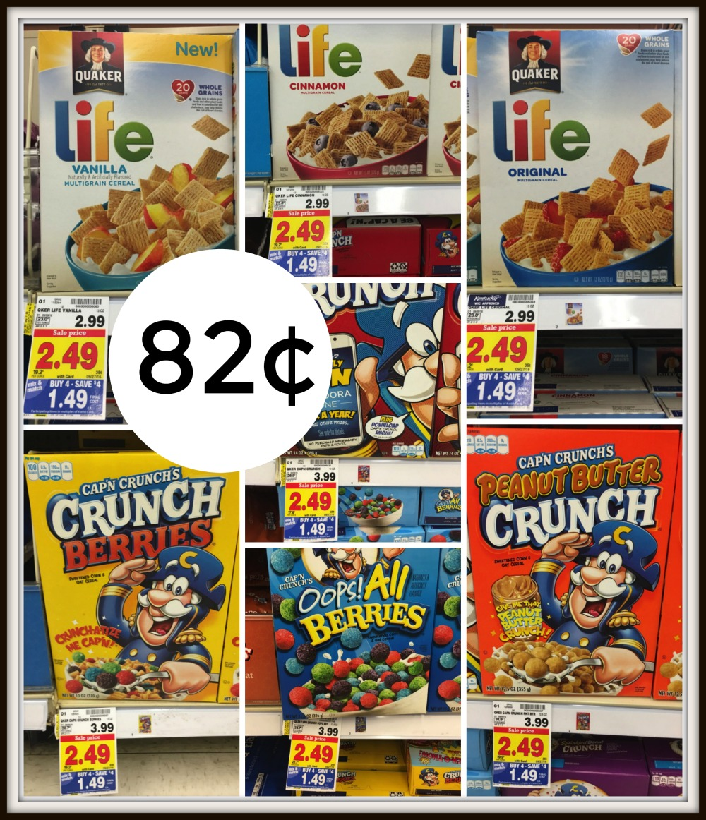 Quaker Cereal Or Instant Oatmeal ONLY $0.82 Each At Kroger