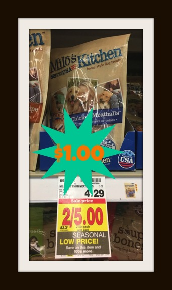 Milo\'s Kitchen Dog Treats ONLY $1.00 at Kroger (Reg Price $4.29 ...