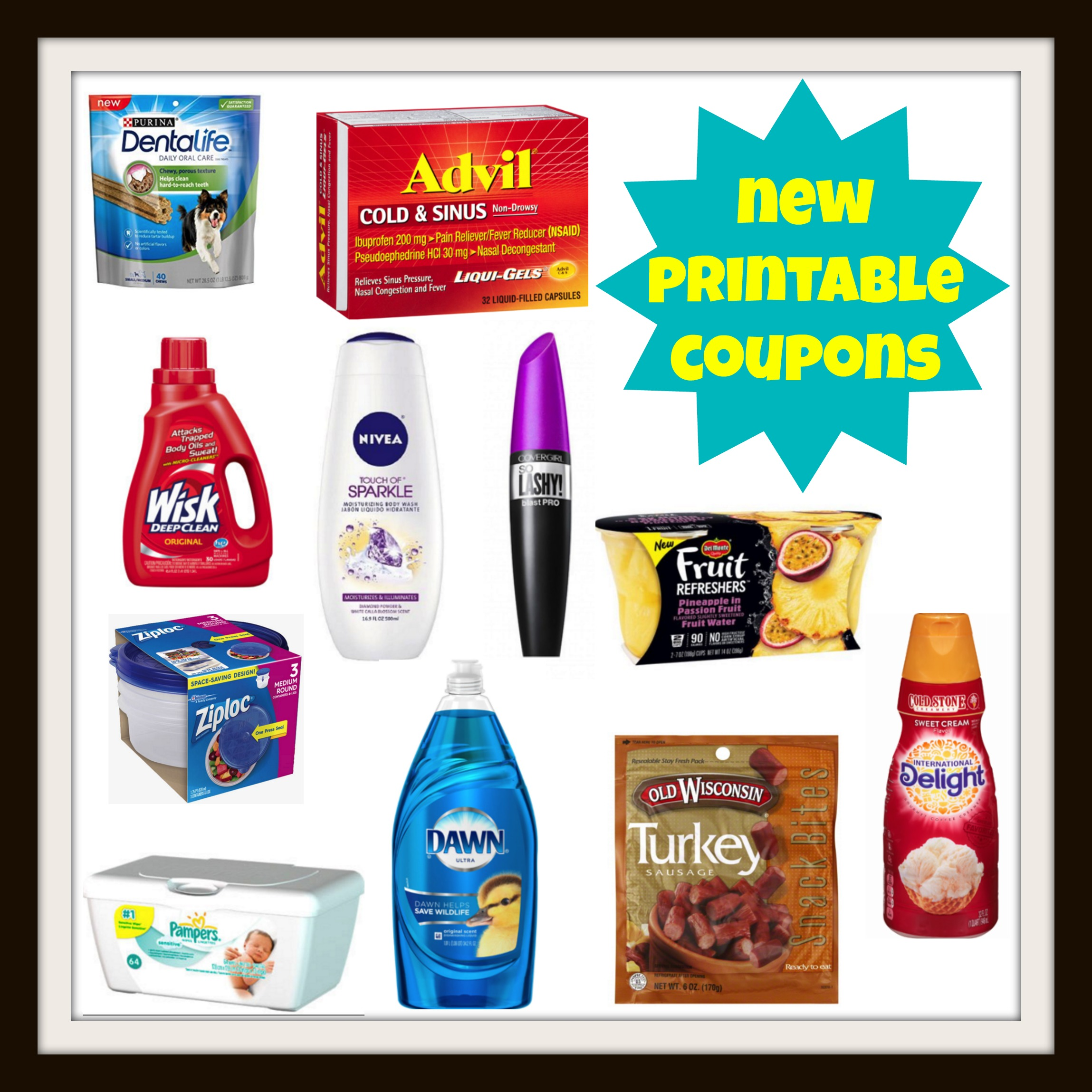 photo about Nivea Printable Coupons named Fresh Printable Discount coupons! Wisk, CoverGirl, Nivea, Pampers