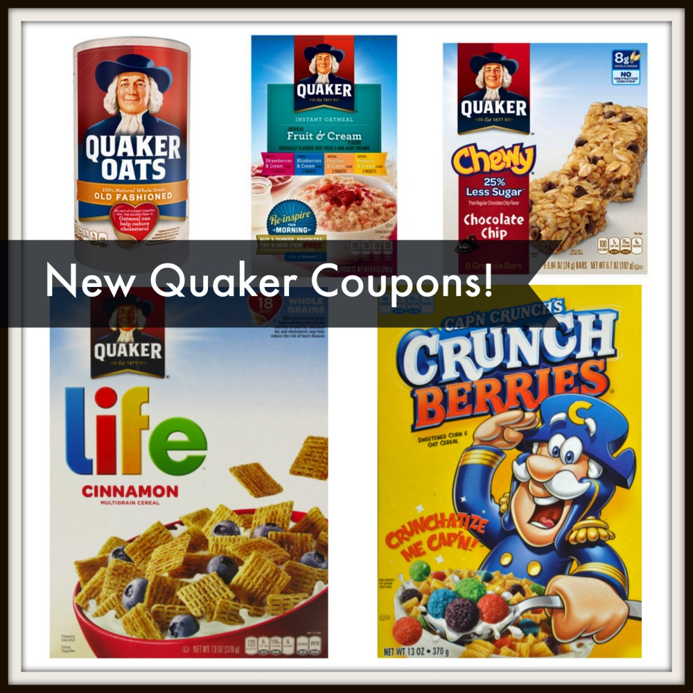 photograph relating to Quaker Printable Coupons referred to as Clean Quaker Discount codes!! Cereal, Oatmeal and Granola Bars