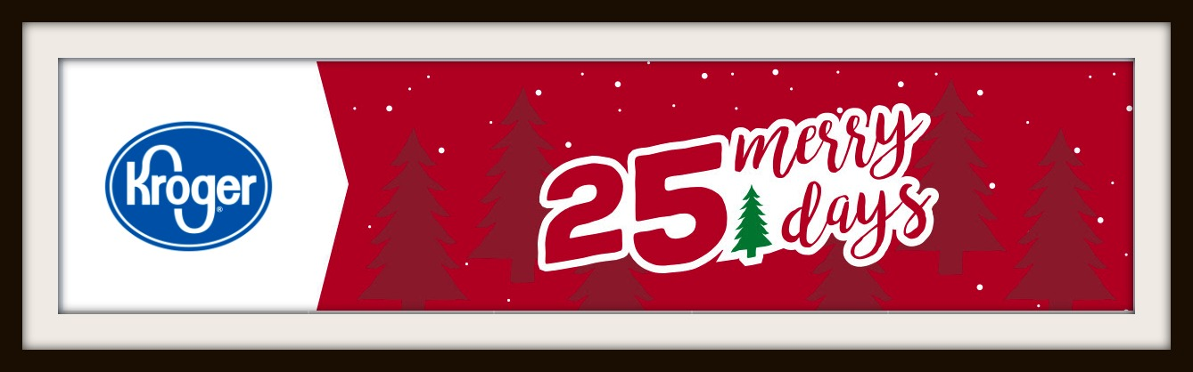 as i mentioned a couple of weeks ago the kroger 25 merry days are back beginning today november 25 and every day through december 19 youll be able to