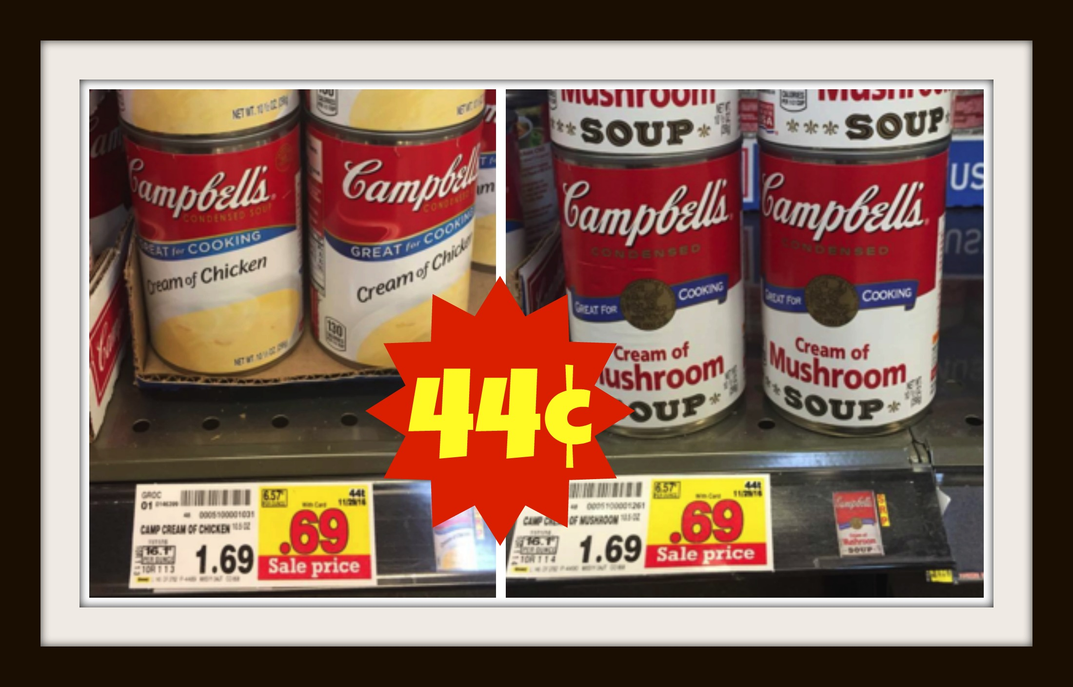photograph relating to Campbell Soup Printable Coupon known as Clean Campbells Condensed Soup Charges at Kroger + Coupon