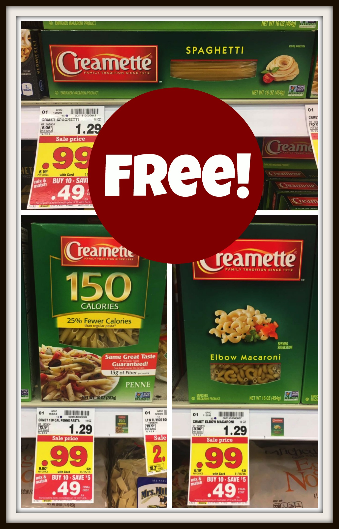 Creamette coupons