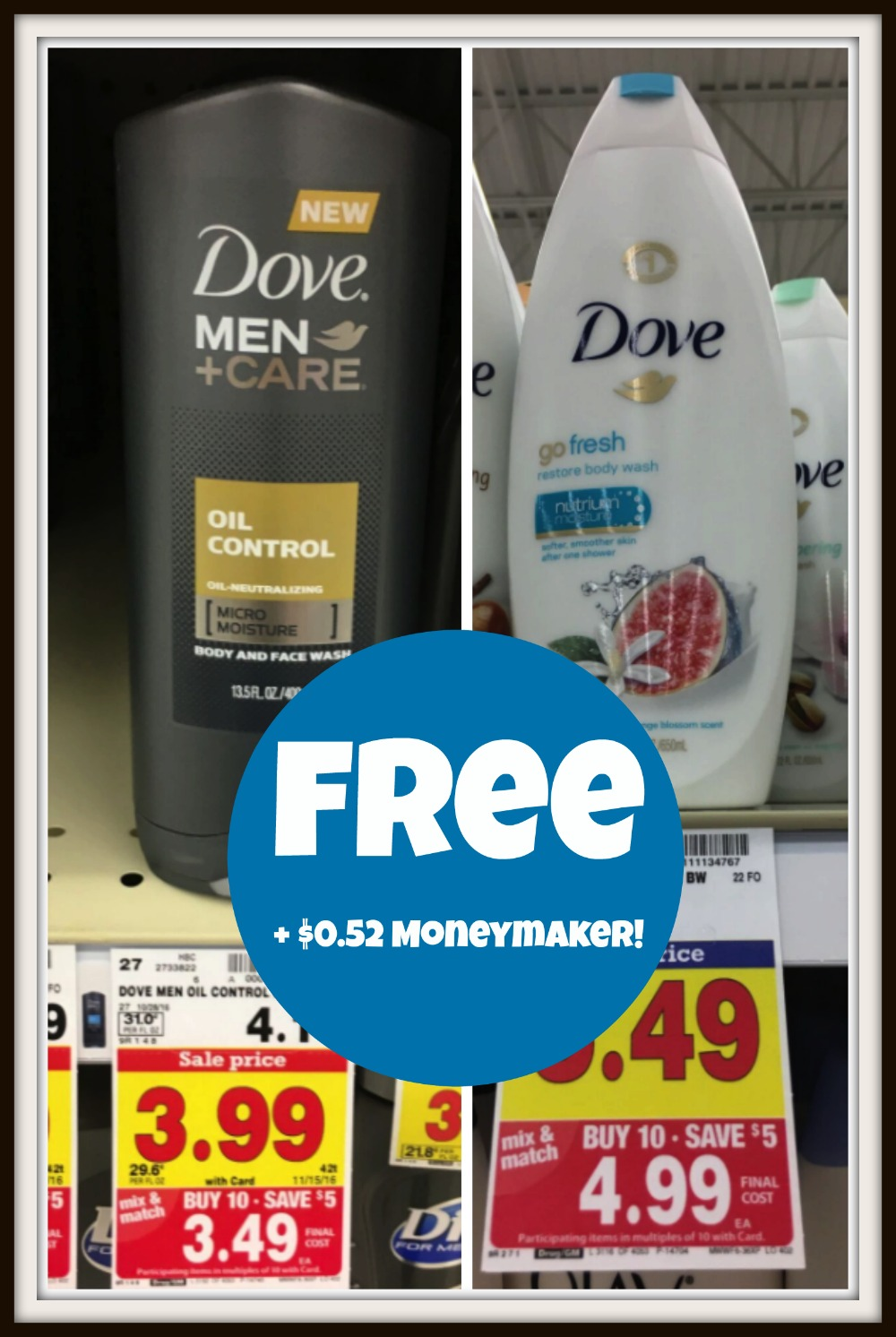 image relating to Dove Soap Printable Coupons titled Refreshing $2 Dove Human body Clean Coupon codes \u003d Absolutely free at Kroger (furthermore $0.52