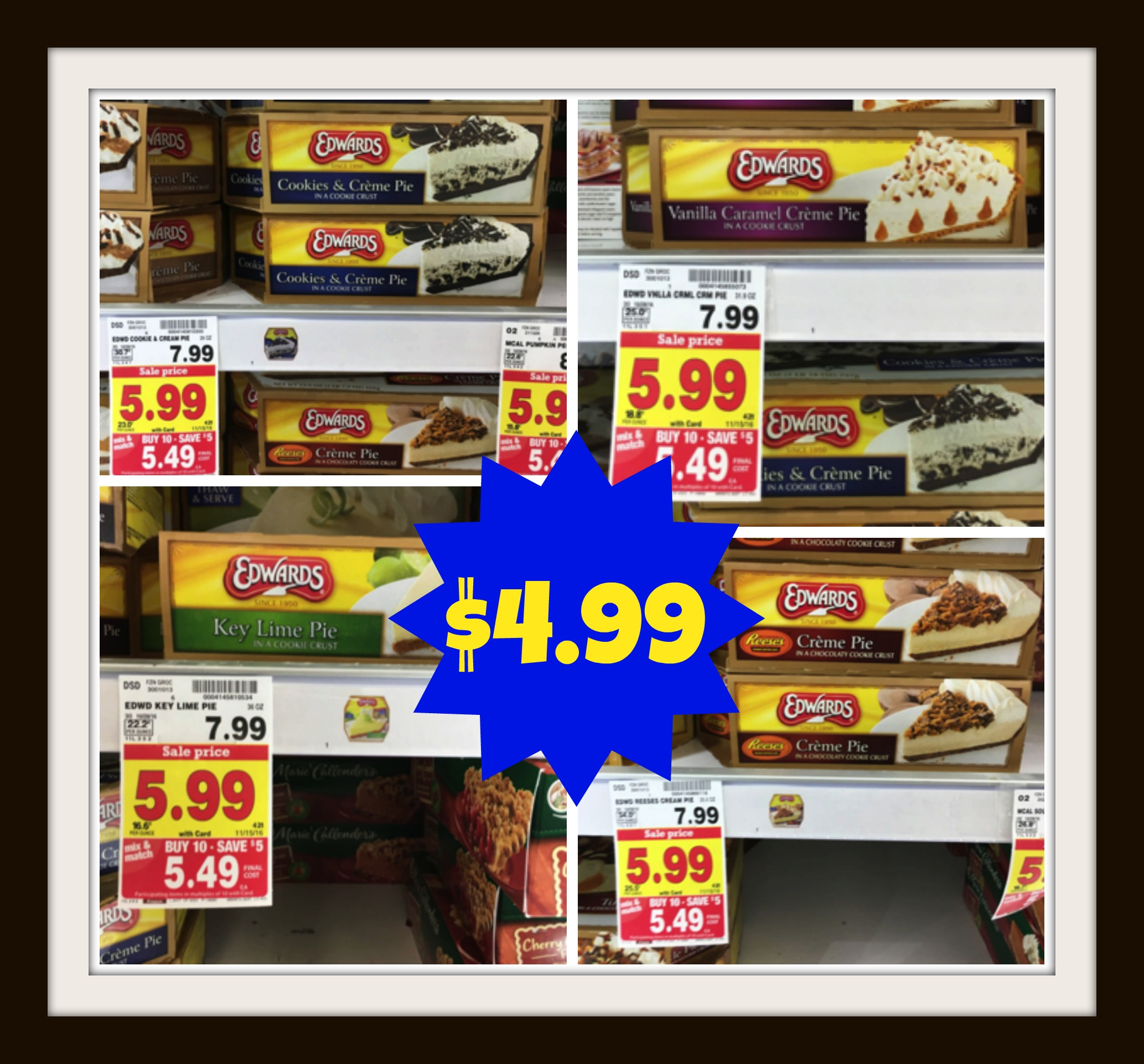 image regarding Edwards Pies Printable Coupons titled Refreshing Edwards Pie Coupon + Kroger Mega Party Bundle Problem