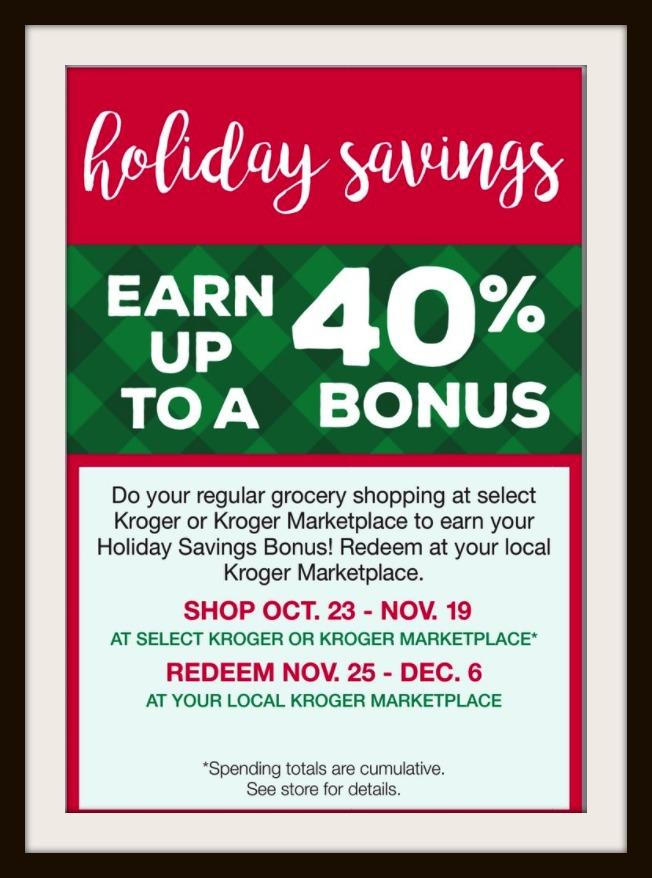 Kroger Marketplace Holiday Savings Bonus | Kroger Krazy