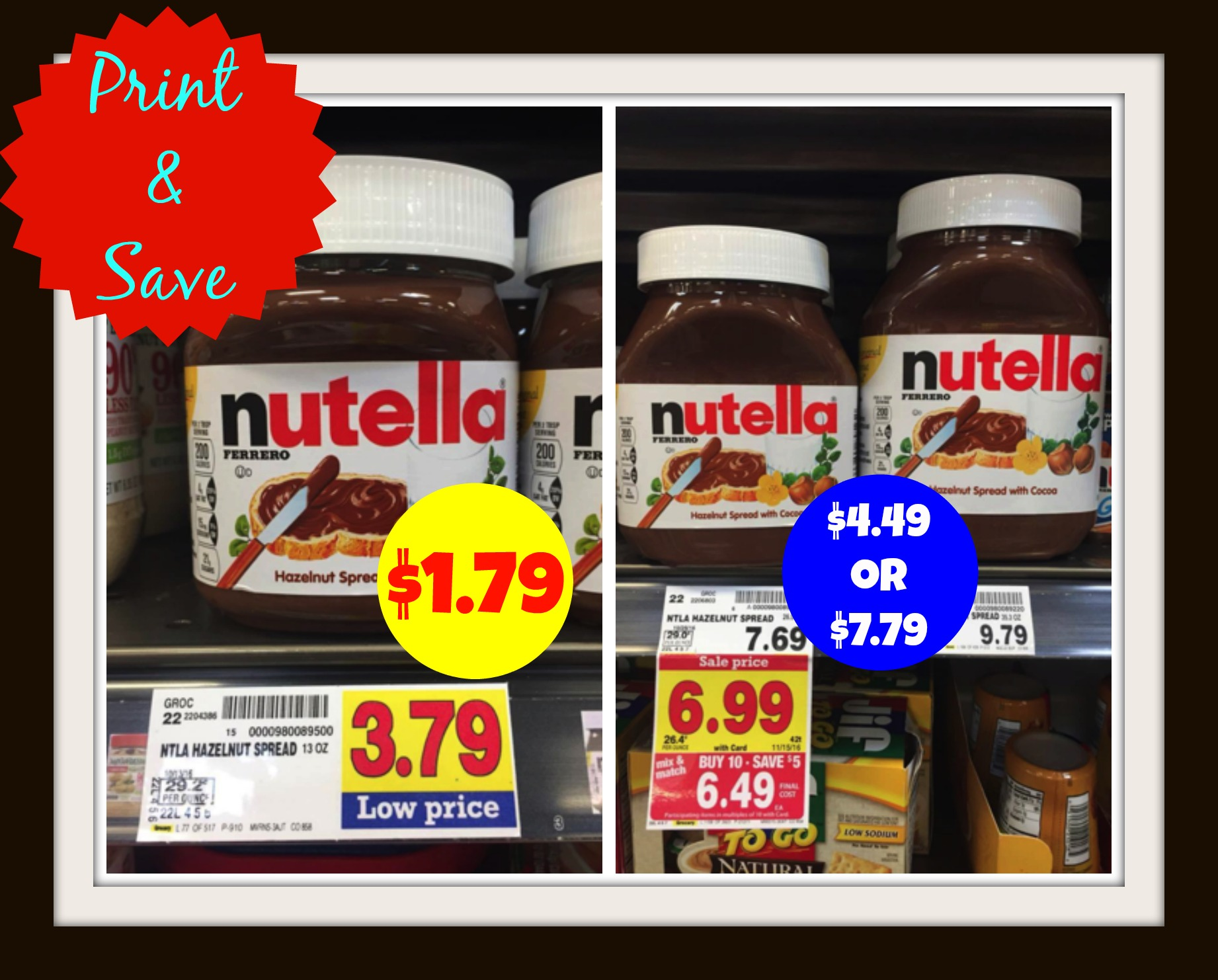 graphic regarding Nutella Printable Coupon identified as Print Help save Fresh Nutella Coupon for Kroger Sale!! Kroger Krazy