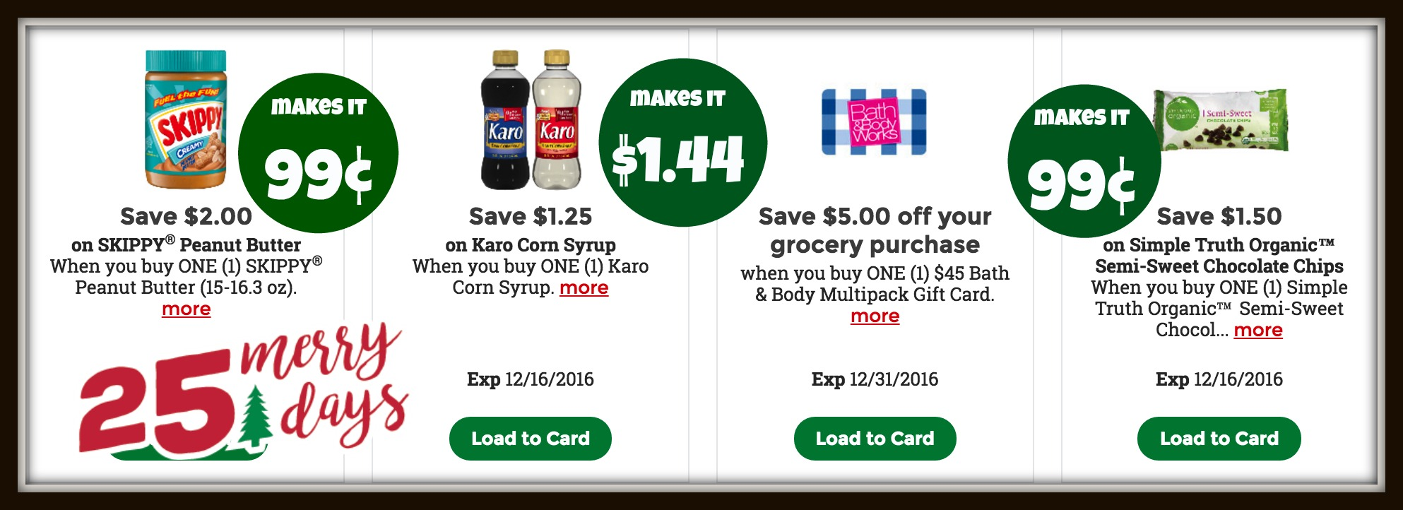 Kroger 25 Merry Days | High Value Coupons for Simple Truth ...