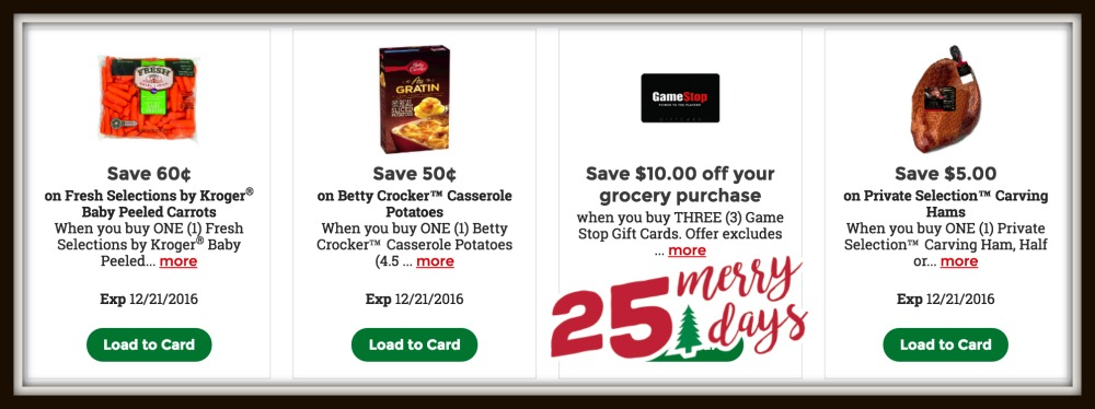 Kroger 25 Merry Days | High Value Coupons for Carving Ham, Carrots ...