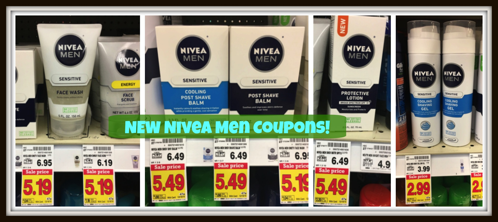 NEW Nivea Men Coupons + Kroger Deal Scenarios!!! - Kroger Krazy