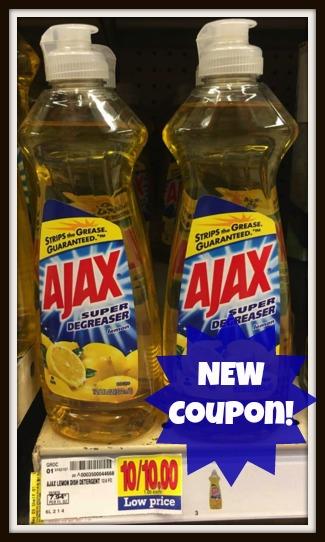 Coupons on ajax dishwashing liquid