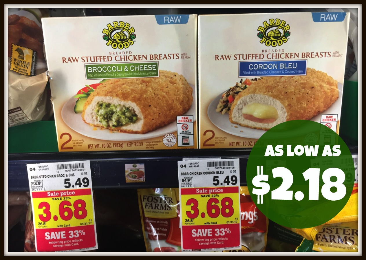 Barber Foods Coupon : Barber Foods Stuffed Chicken Breasts as low as $2.18 at Kroger (Reg $5 ...