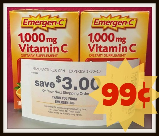 image about Emergen C Coupon Printable identify Emergen-C Catalina Vitamin C Packets as lower as 99¢ at
