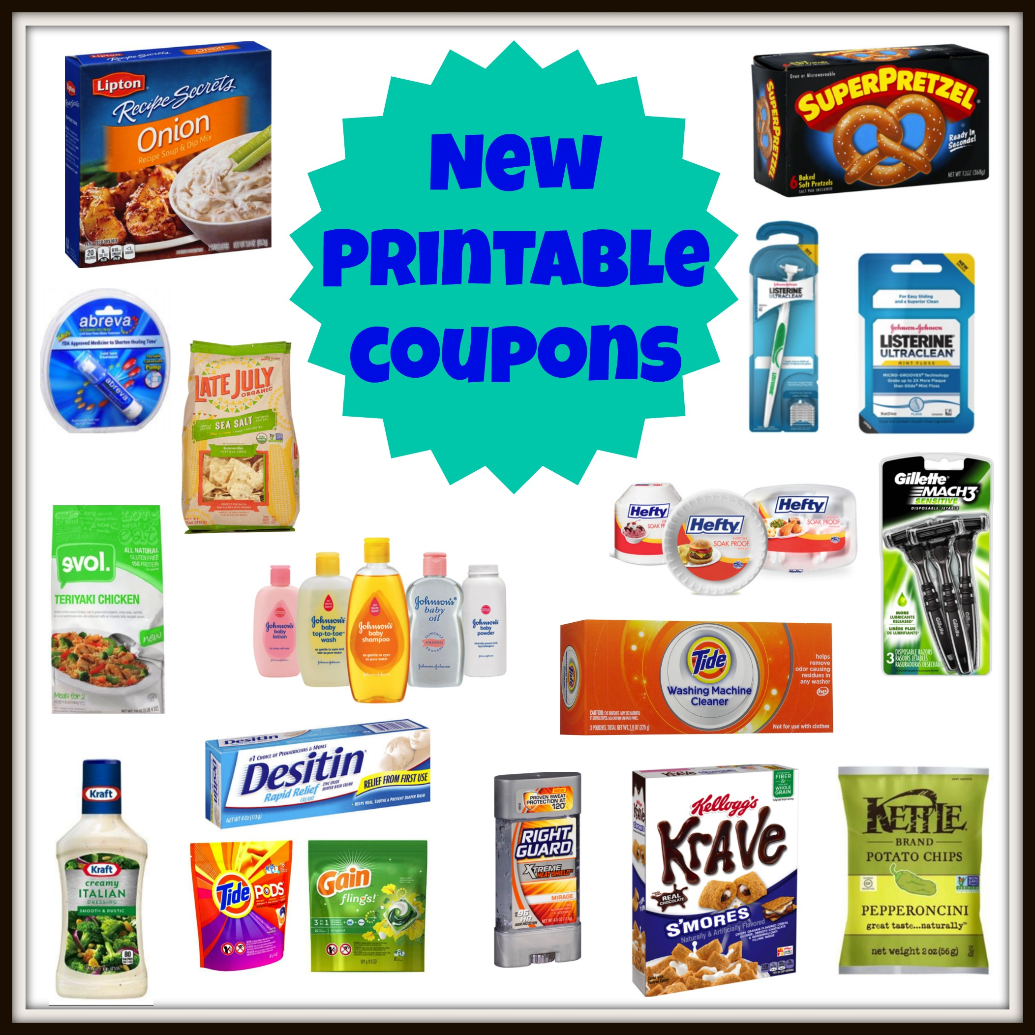 photograph about Abreva Coupons Printable known as Fresh new Printable Discount coupons! Kelloggs, TIDE, Profit, Gillette