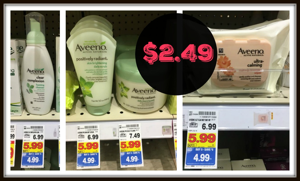Aveeno Face Wash or Face Wipes as low as $2.49 with Kroger Mega Event! - Kroger Krazy