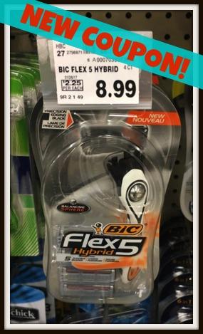 bic flex5 hybrid razor