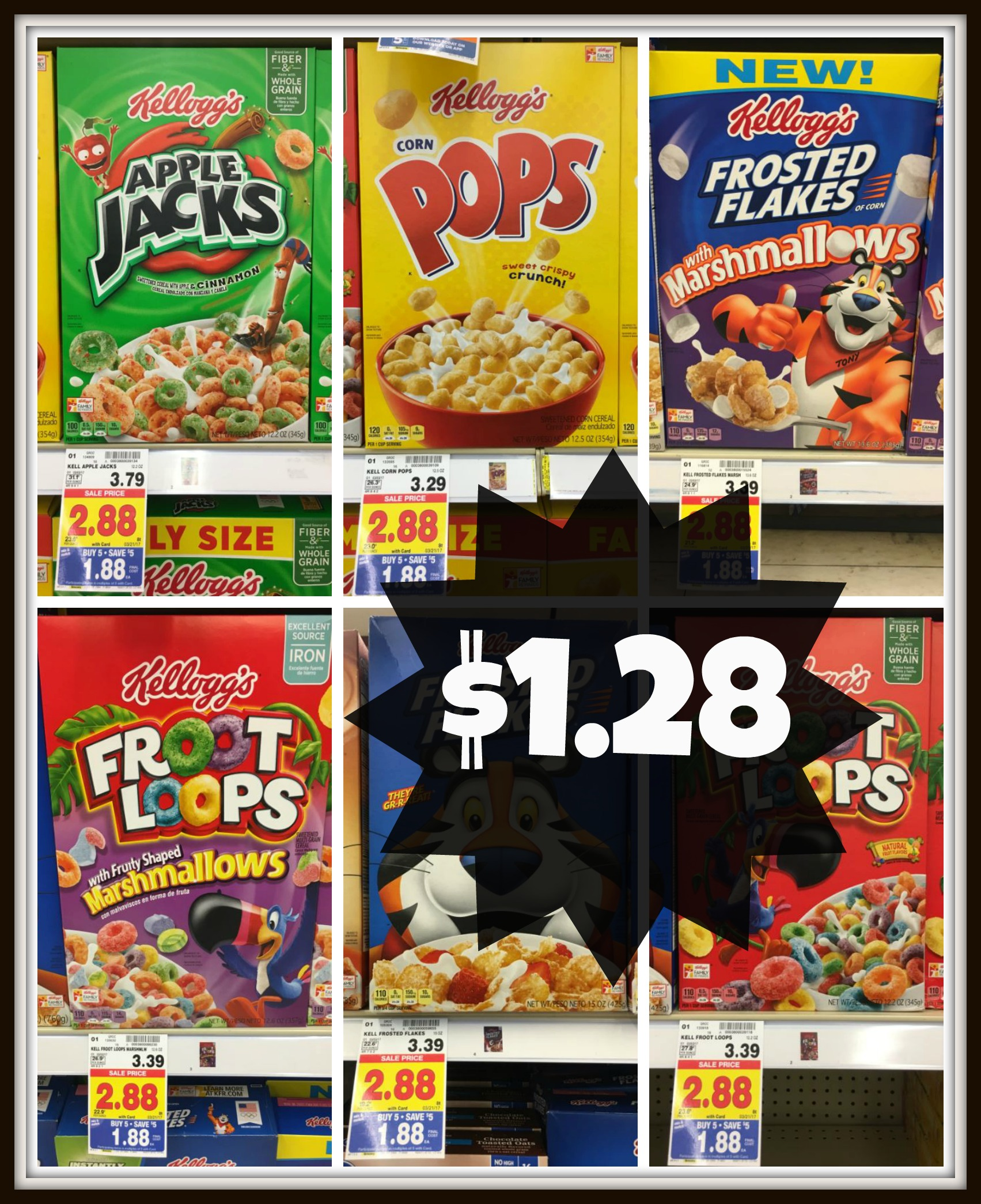 NEW Kellogg's Coupons = Cereals ONLY $1.28 With Kroger