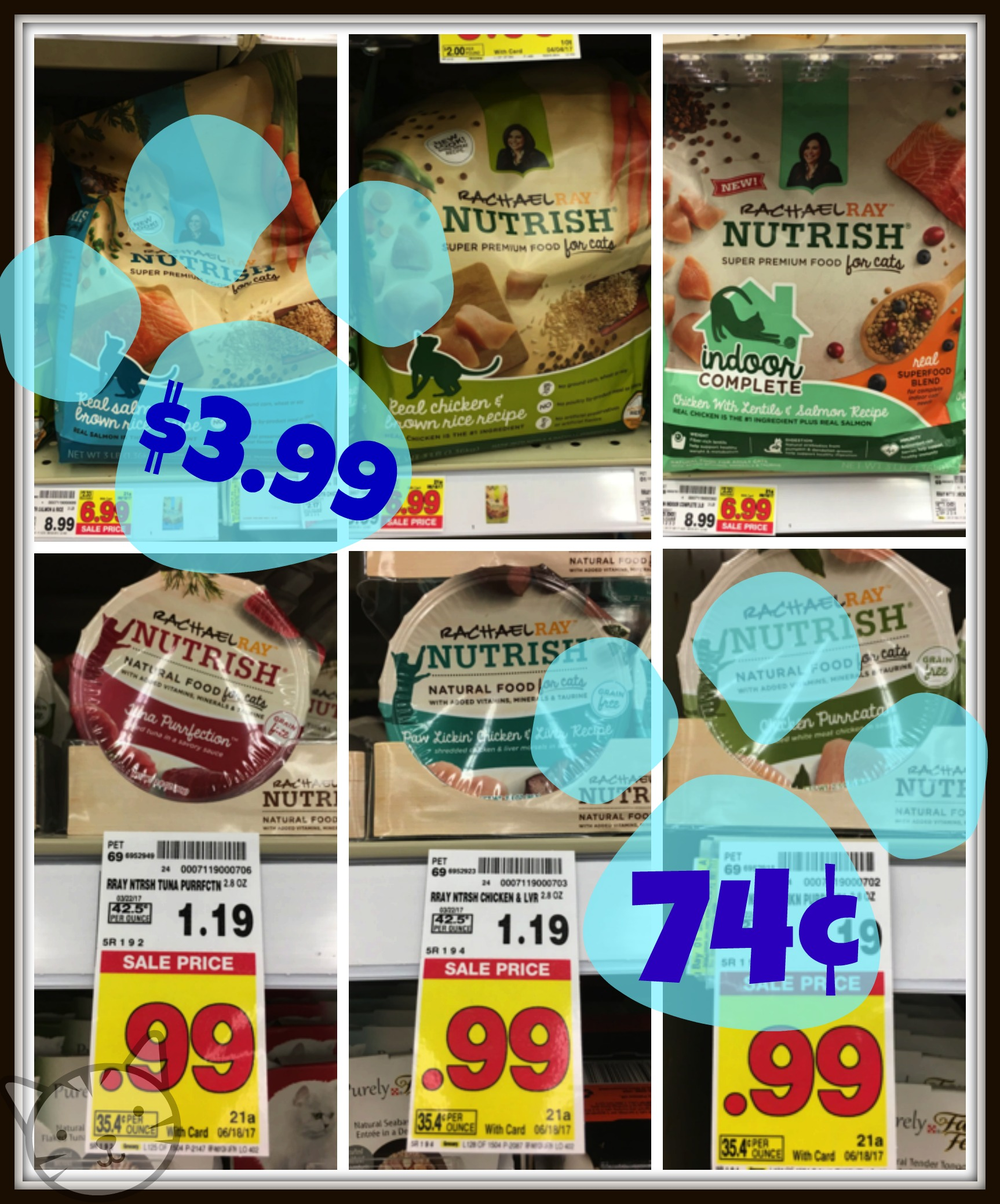 photo regarding Rachael Ray Cat Food Printable Coupons known as Rachael Ray Cat Food stuff Bargains in just the Pet dog Aisle at Kroger Specifically