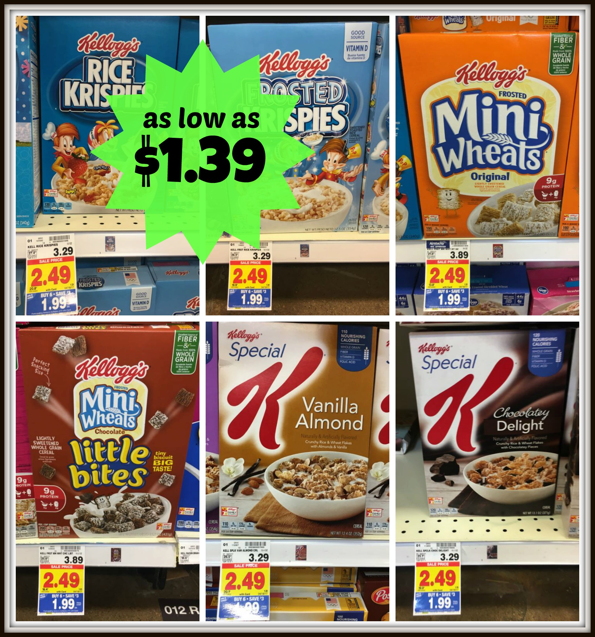 Kellogg's Cereals As Low As $1.39 With Kroger Mega Event