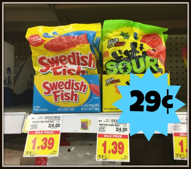 Swedish fish or sour patch kids only at kroger for Sour swedish fish