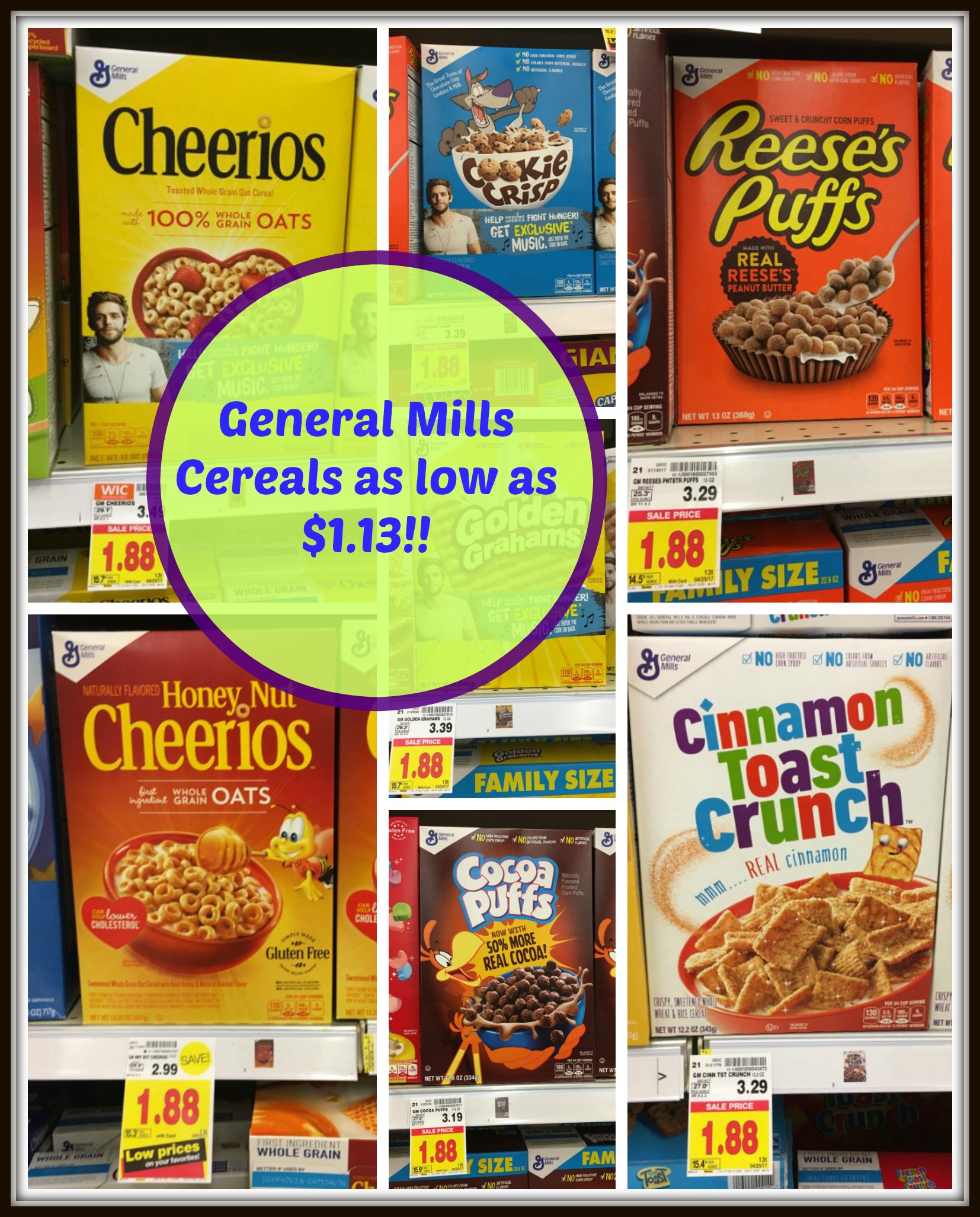 General Mills Cereals As Low As $1.13 At Kroger!!