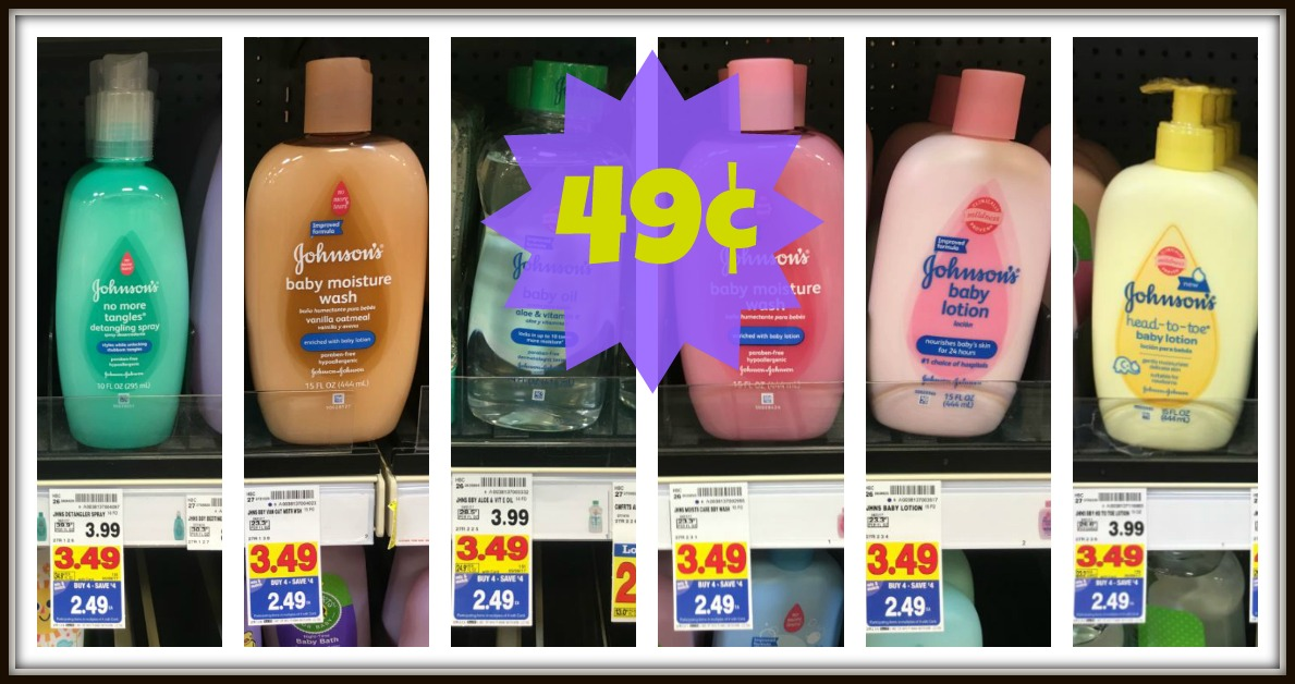 photo relating to Johnson and Johnson Coupons Printable named Johnsons Boy or girl Items Just $0.49 with Kroger Mega Occasion