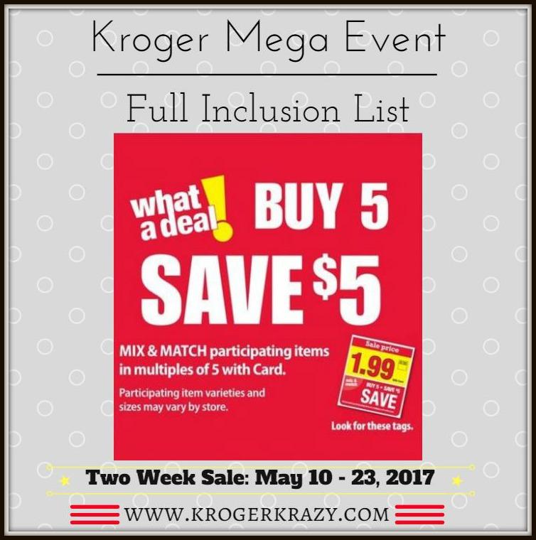 Kroger Full Inclusion List