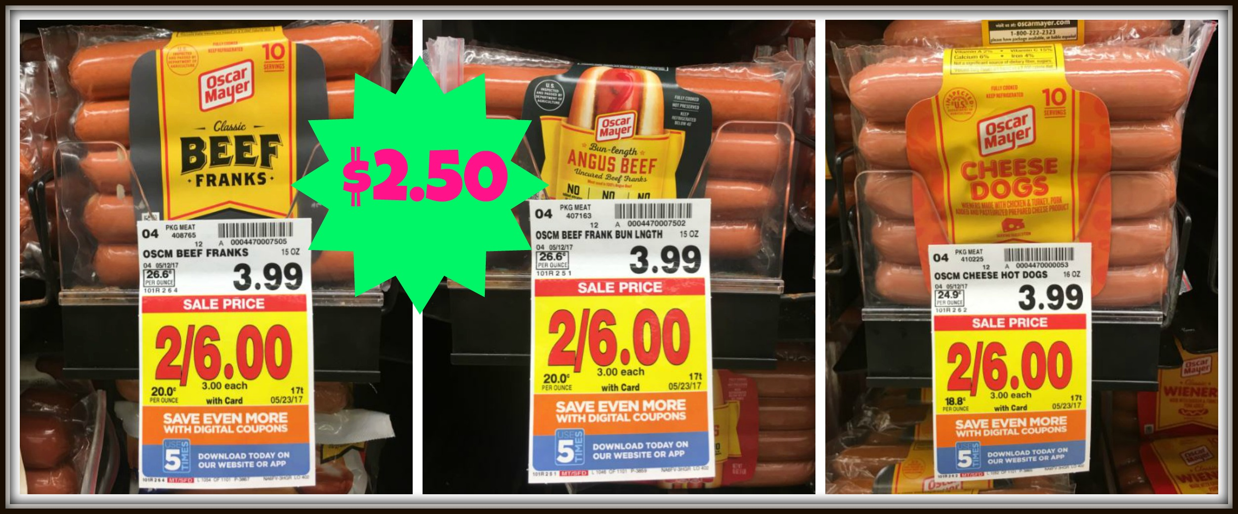 picture about Oscar Meyer Printable Coupons referred to as Oscar Mayer Beef Warm Canines Simply just $2.50 at Kroger (Reg $3.99