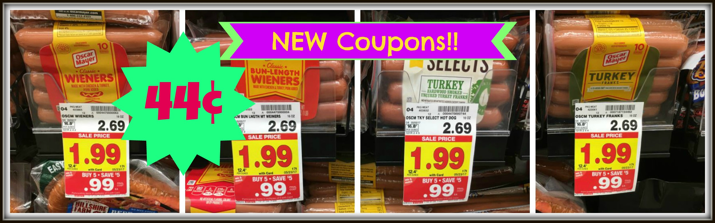 graphic relating to Oscar Meyer Printable Coupons referred to as Fresh Oscar Mayer Discount codes Very hot Puppies Merely $0.44 at Kroger