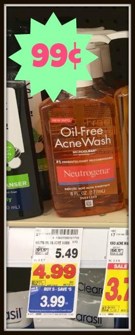 Neutrogena Oil-Free Acne Wash ONLY $0.99 with Kroger Mega Event (Reg $5.49)!! - Kroger Krazy