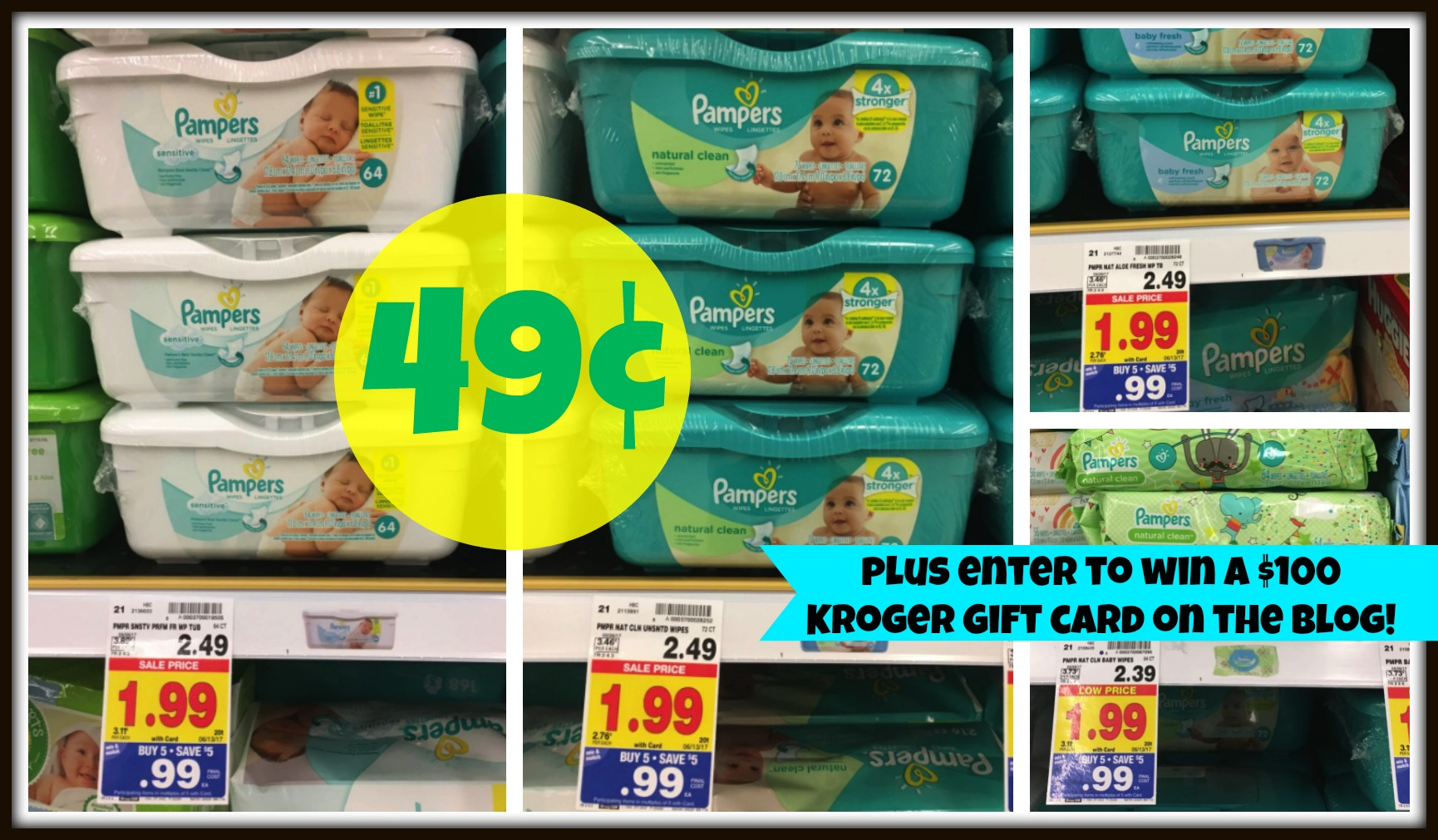 photograph regarding Pampers Wipes Printable Coupons named Pampers Wipes Merely $0.49 with Kroger Mega Occasion (Additionally Input