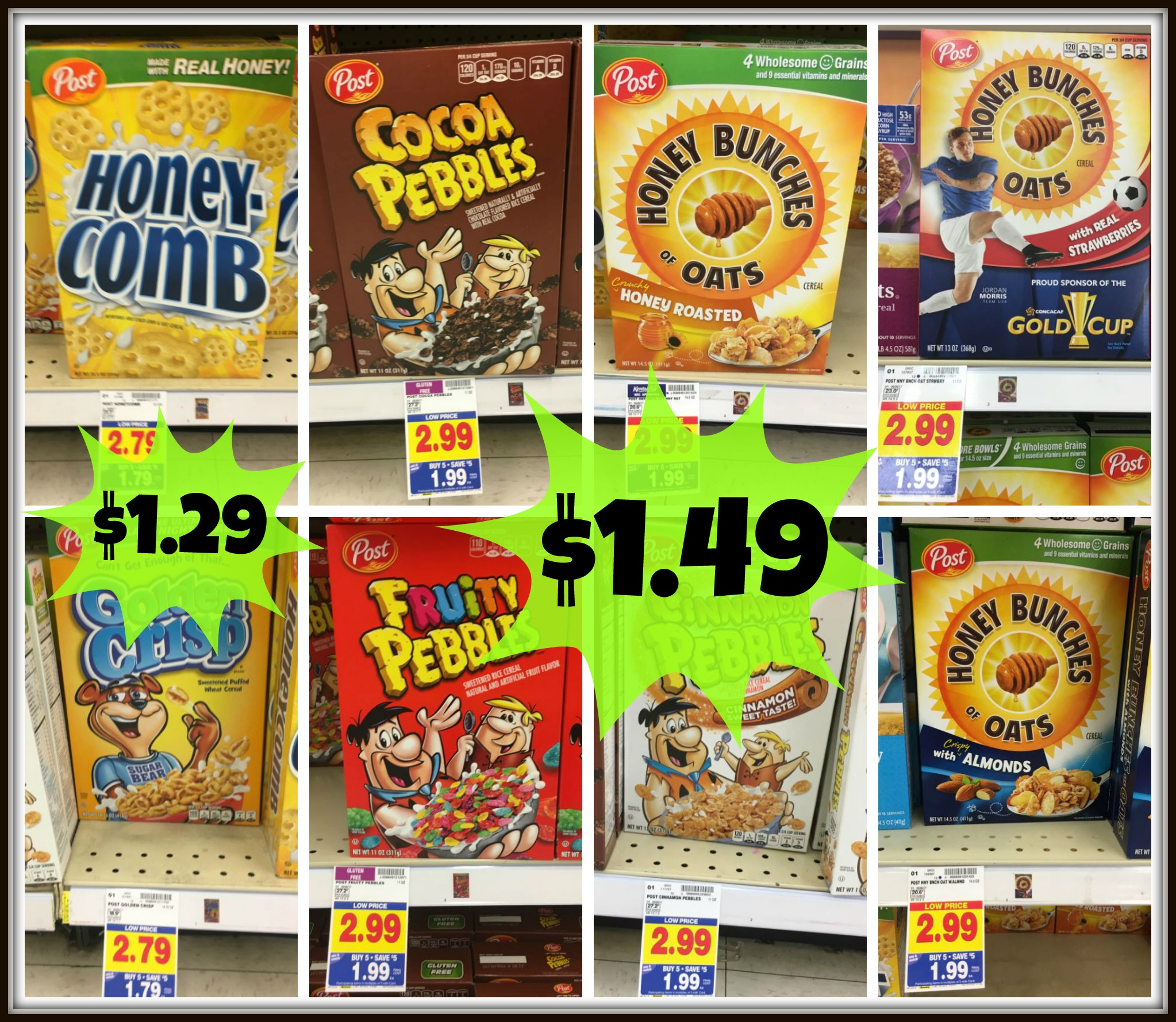 Post Cereals As Low As $1.29 With Kroger Mega Event