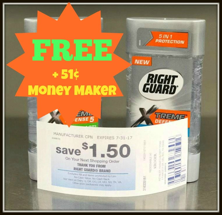 Right Guard Coupon for Canada.
