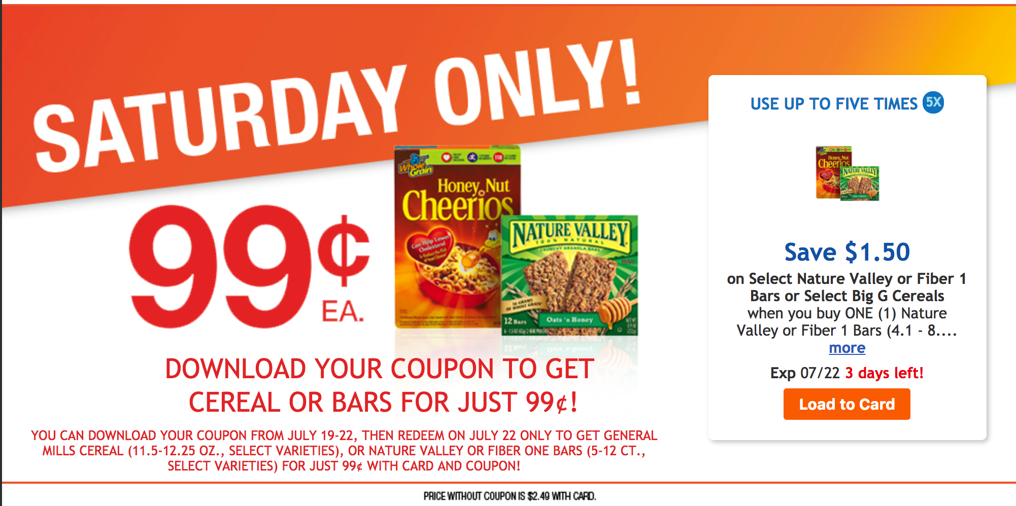 Cheerios Coupons Save $1.00