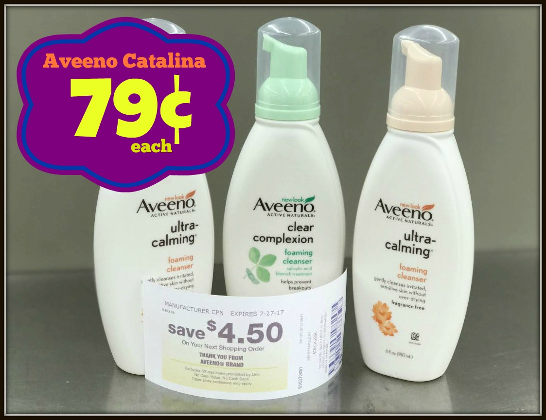 Aveeno Catalina | Foaming Cleanser as low as $1.29 each at Kroger! - Kroger Krazy