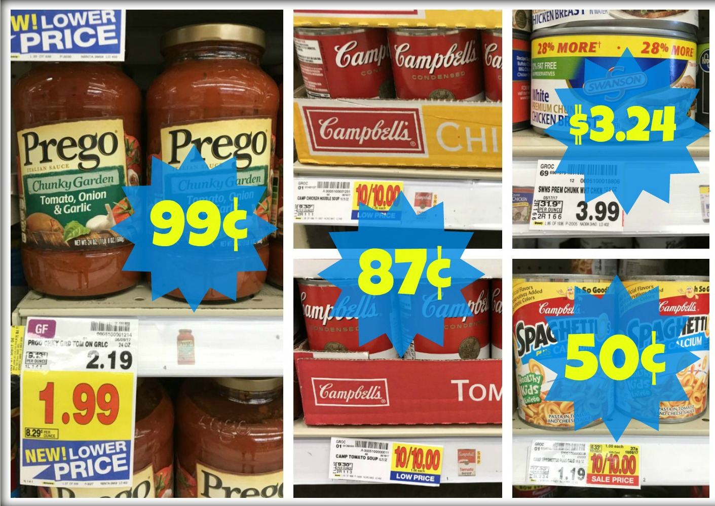 photograph about Prego Printable Coupons identified as Prego Pasta Sauce Merely $0.99 at Kroger (SpaghettiOs Only