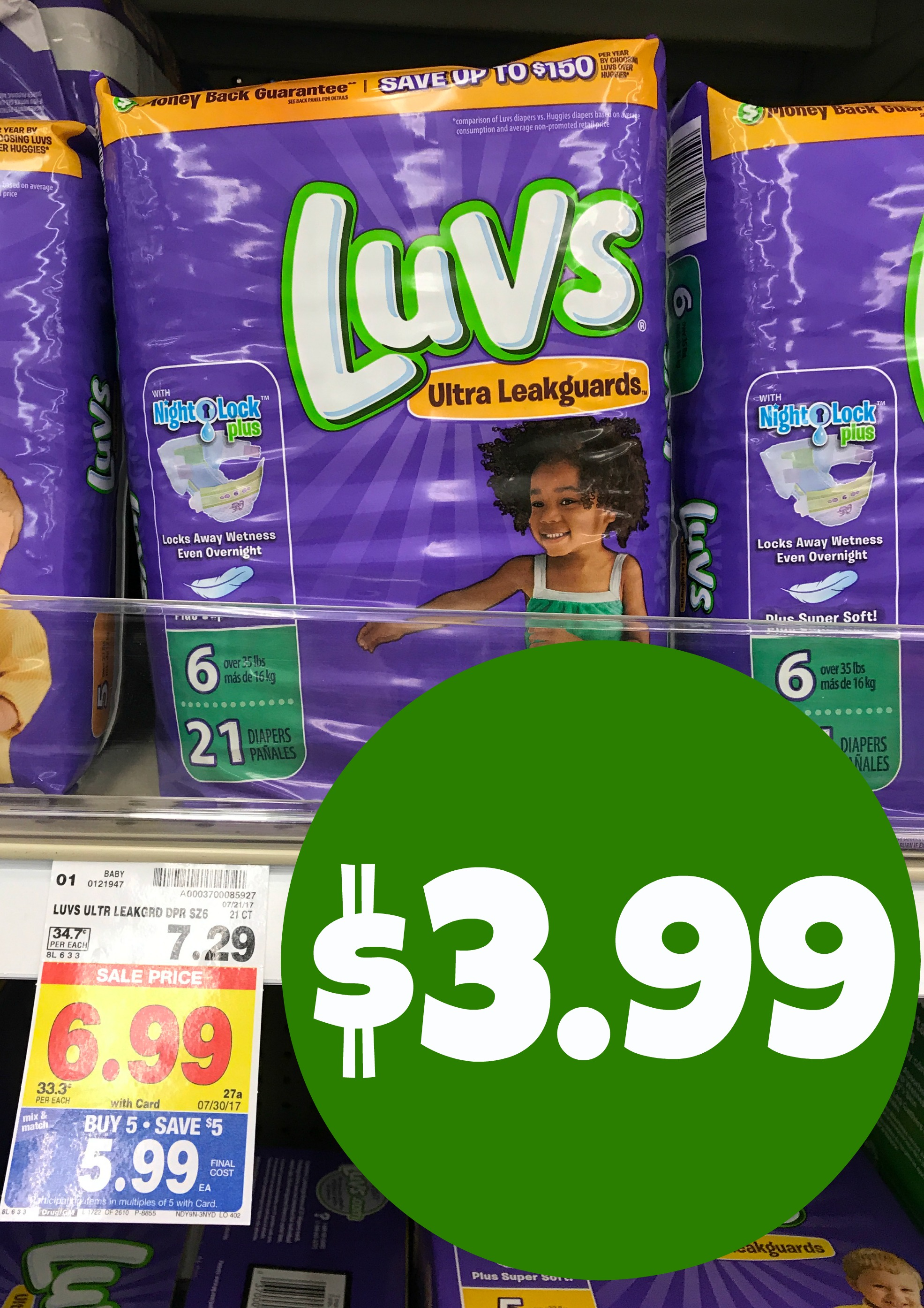 photo about Luvs Printable Coupons named Luvs Diapers Accurately $3.99 with Kroger Mega Occasion and Coupon