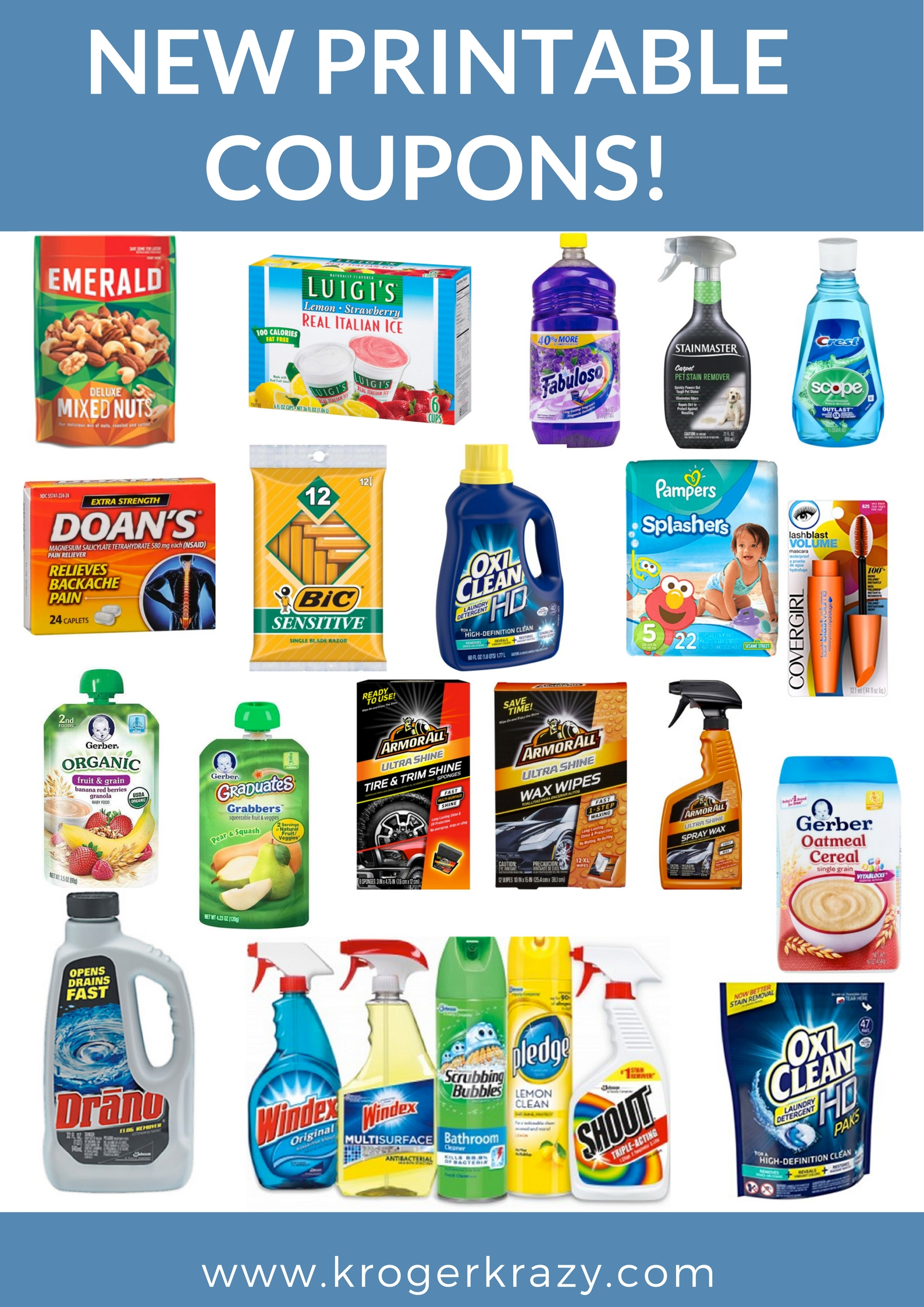 graphic relating to Windex Printable Coupon known as Fresh Printable Discount coupons! Windex, Pledge, Oxi-New, CoverGirl