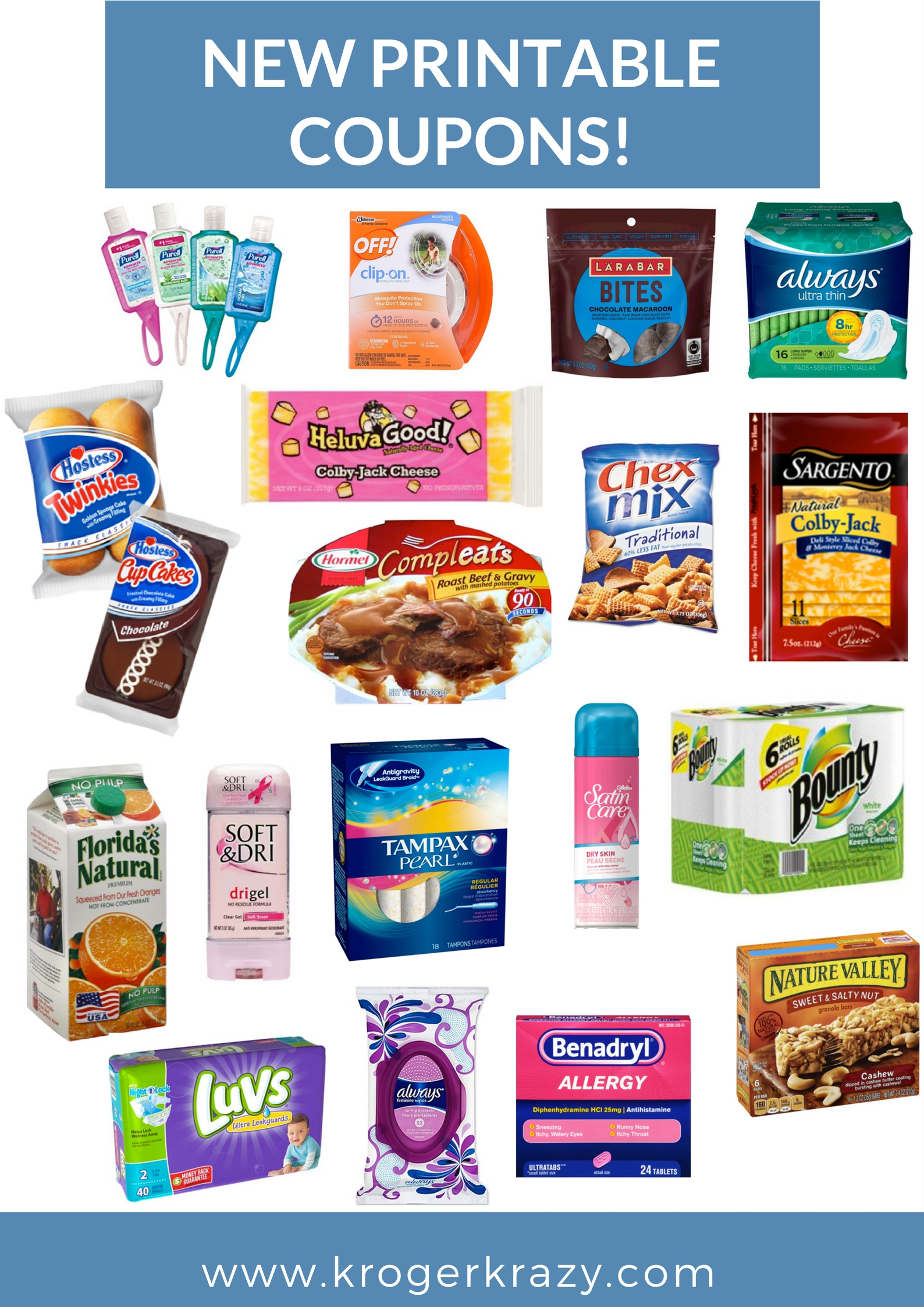 image relating to Benadryl Printable Coupon referred to as Fresh Thirty day period! Fresh new Printable Coupon codes! Hostess, Constantly, Tampax