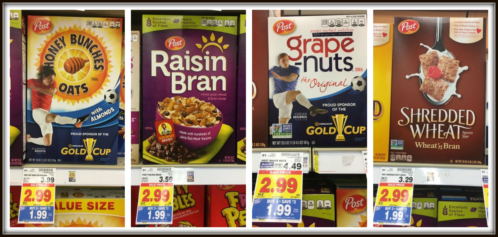 Buy (2) Post Honey Bunches of Oats (18 oz) u2013 $1.99 each (wyb 3 participating items thru 7/18) Buy (2) Post Grape Nuts Cereal (20.5 oz) u2013 $1.99 each (wyb 3 ... & Post Cereals as low as $0.69 with Kroger Breakfast Event! - Kroger ... Aboutintivar.Com