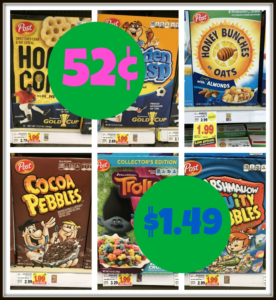 Score Post Cereals For As Low As $0.52 Each At Kroger