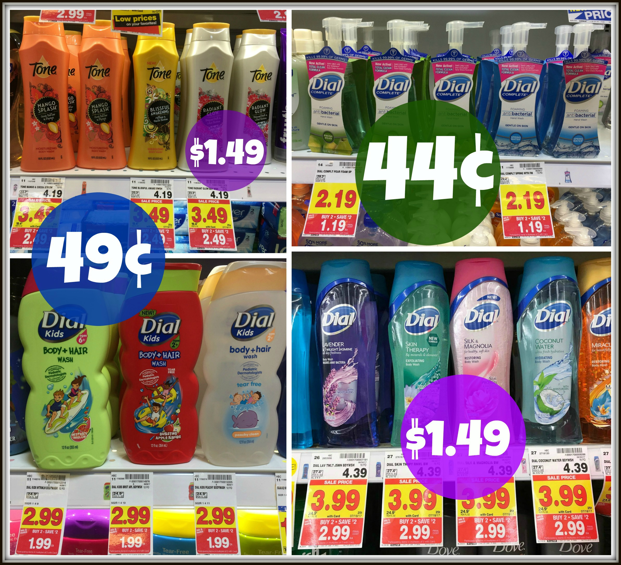 photograph regarding Dial Printable Coupon called Fresh Dial and Tone Discount codes \u003d Foaming Hand Clean Merely $0.44