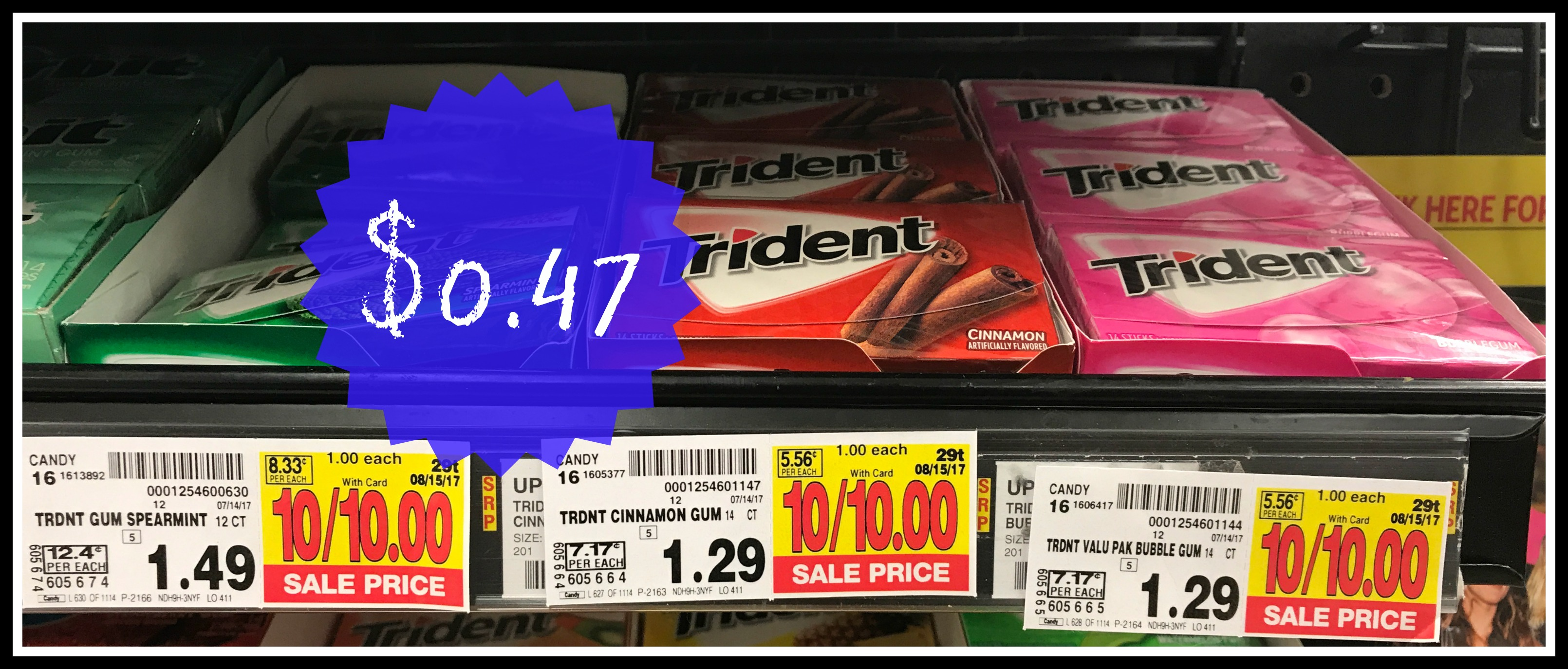 image relating to Trident Coupons Printable named Seize Trident Gum For Just 47¢ every single at Kroger! Kroger Krazy