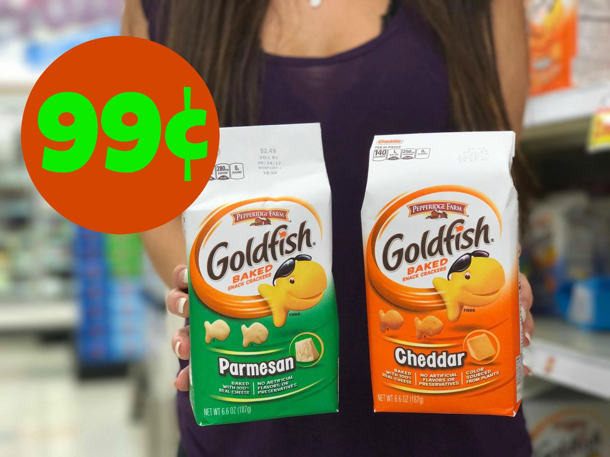 photo relating to Goldfish Printable Coupons titled Pepperidge Farm Goldfish Crackers Simply $0.99 at Kroger